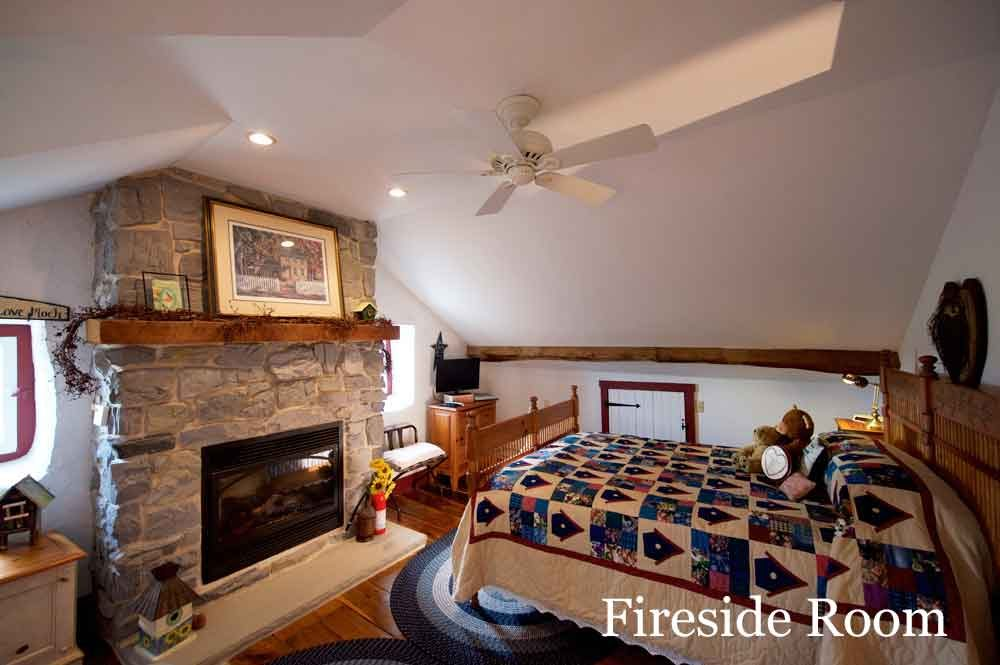Fireside Room at Osceola Mill House Bed & Breakfast
