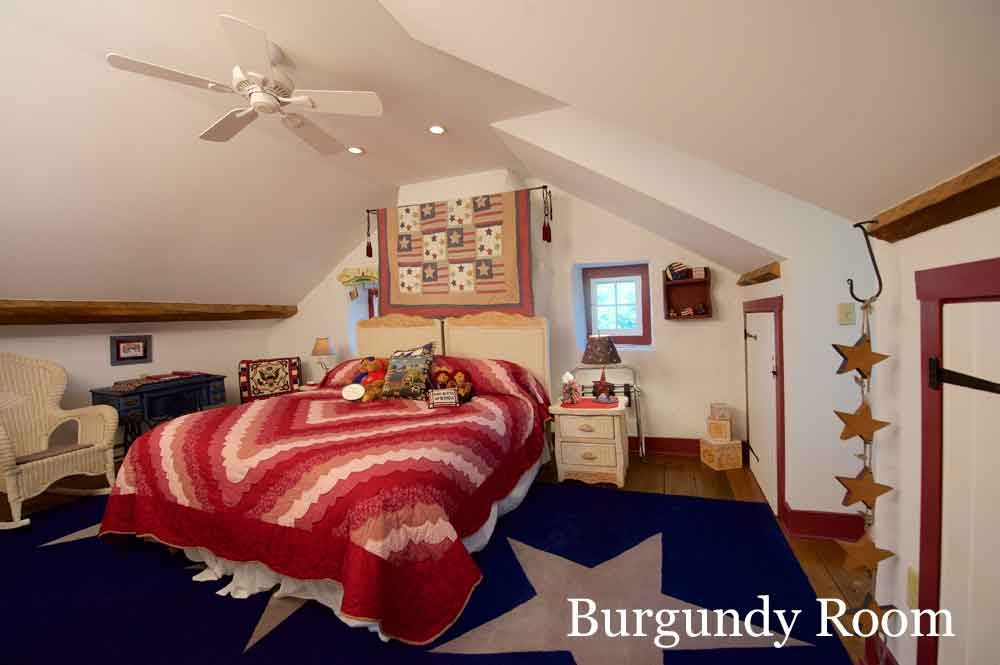 Burgundy Room at Osceola Mill House Bed & Breakfast