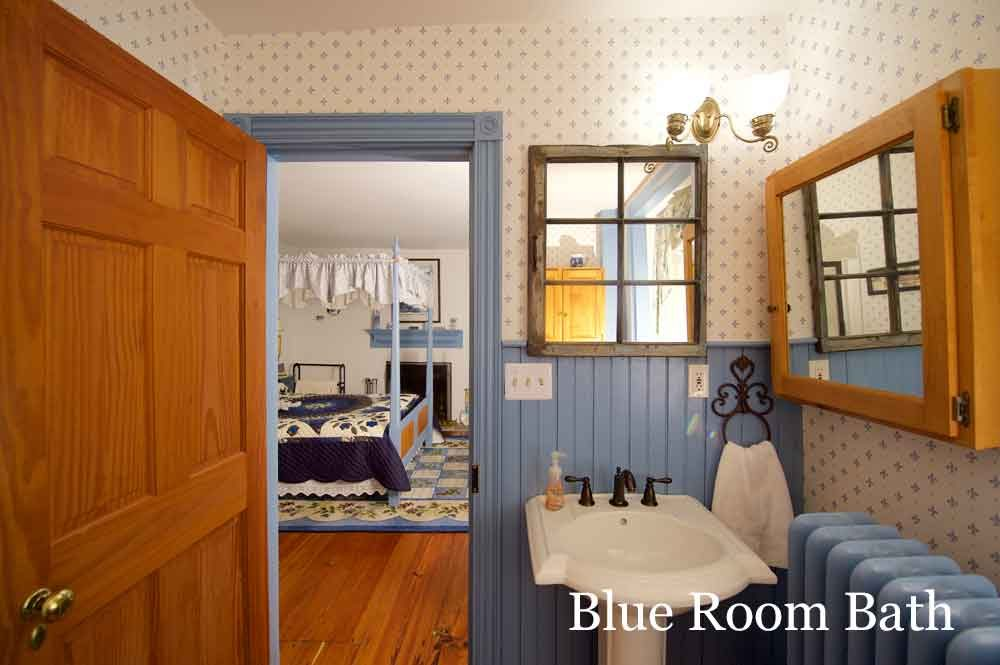 Blue Room Bath at Osceola Mill House Bed & Breakfast